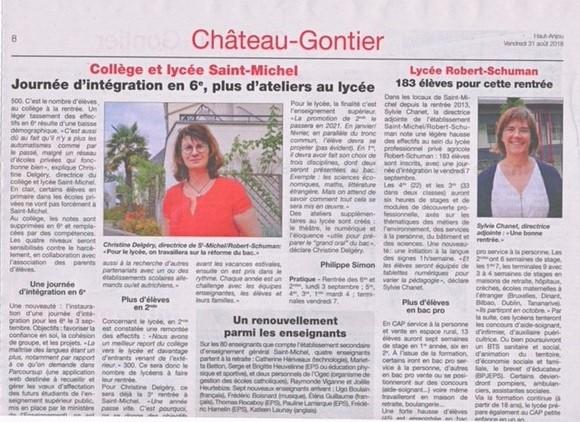 Château-Gontier fait sa rentrée !