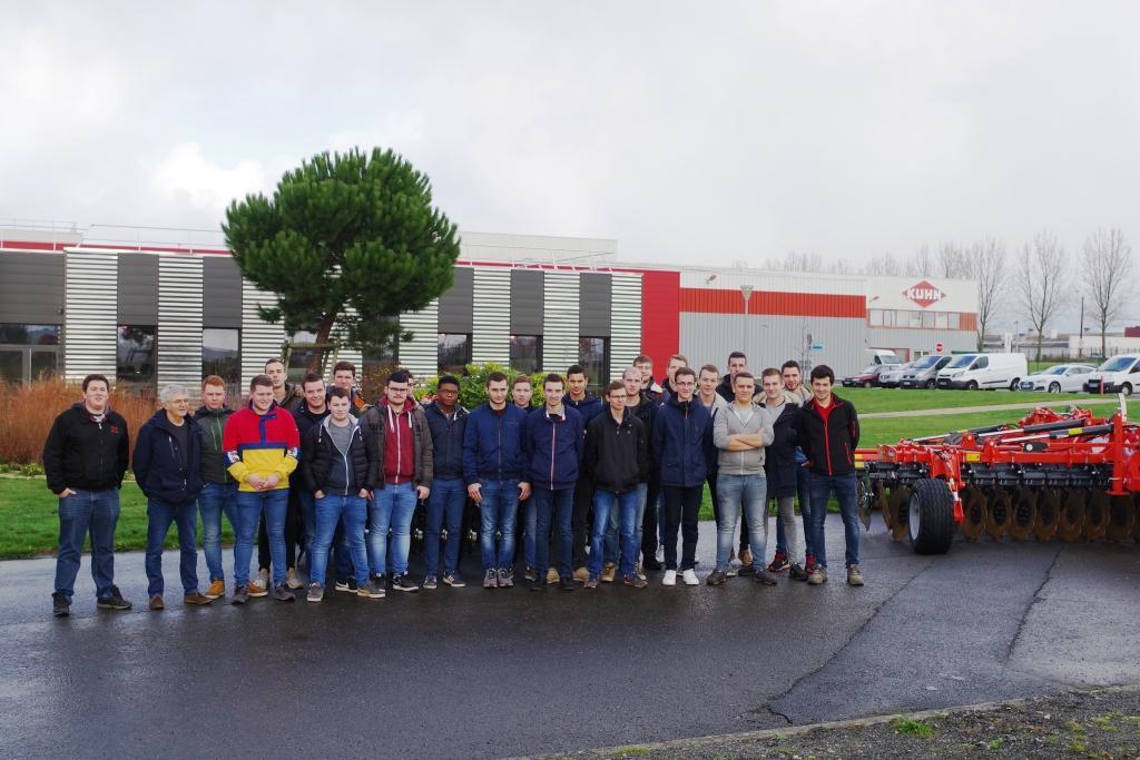 Visite en anglais de KUHN-HUARD Châteaubriant pour les étudiants de BTS GDEA2
