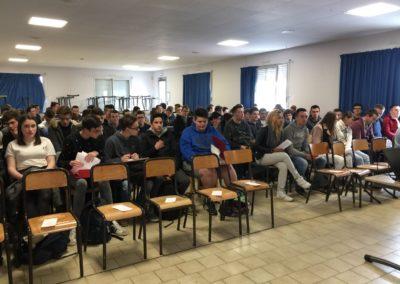 Les élèves de 2nd prêts pour le début de la conférence