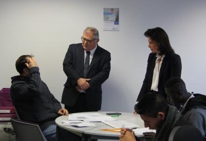Jean-Marie Marx, Haut-Commissaire aux compétences et à l'inclusion dans l'emploi, en déplacement Nantes pour mesurer les avancées du PIC