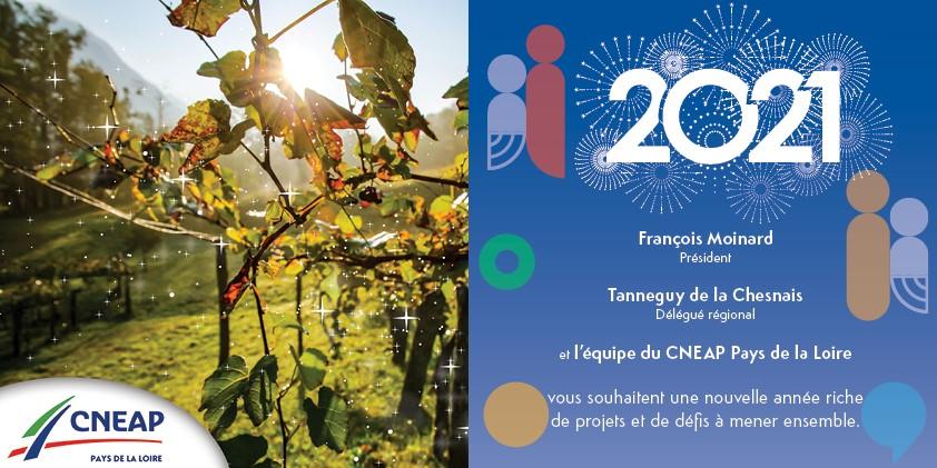 Le CNEAP Pays de la Loire vous souhaite une belle année 2021 !